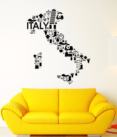 Wall Decal Italy Pizza