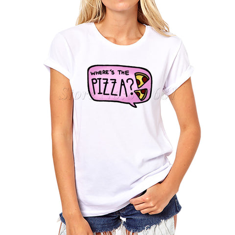 "Womens Short sleeve t-shirt ""Wheres the Pizza"""