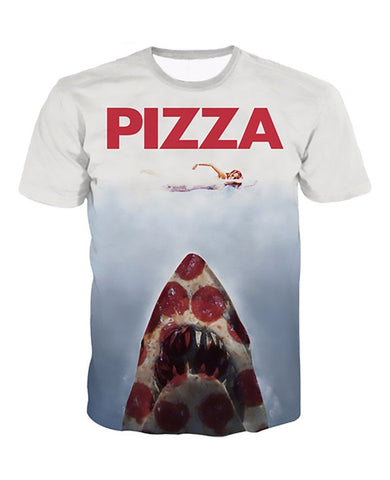 Pizza Jaws T-Shirt  Women / Men Summer Style Pullover