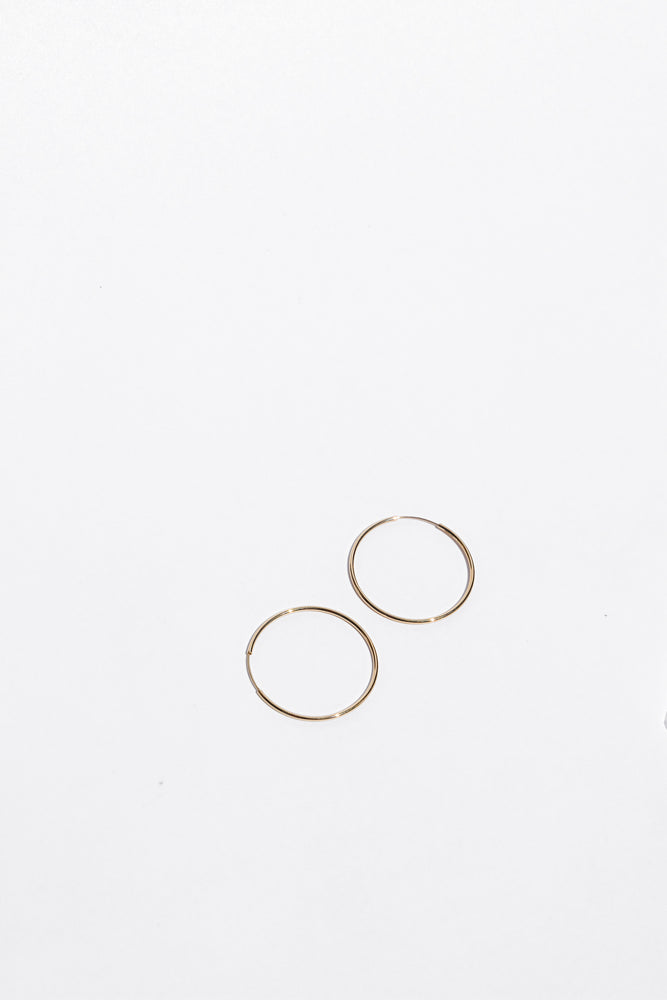 30mm Hoops- Solid 14k Gold