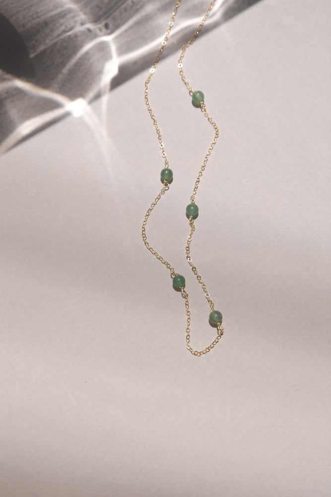 Aventurine Beaded Short Necklace