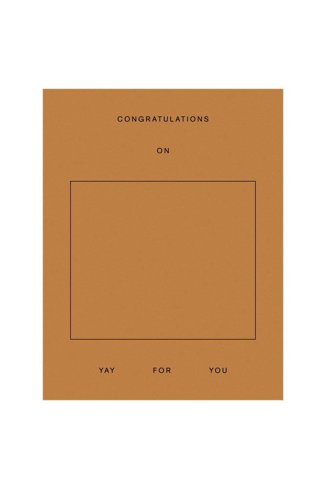 Congratulations on Yay for you - Goods Gang