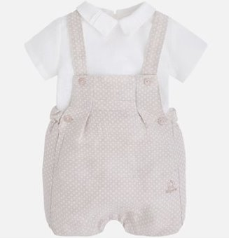 Mayoral Linen Romper Set 1659