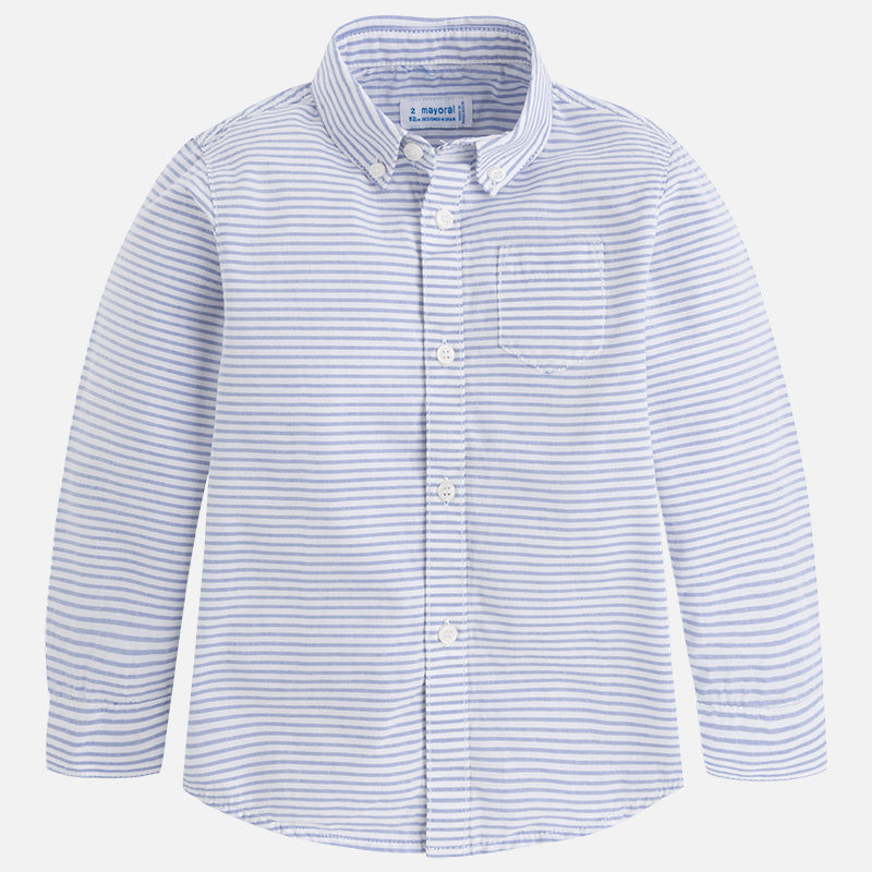 Mayoral L/S Striped Button Down 3176