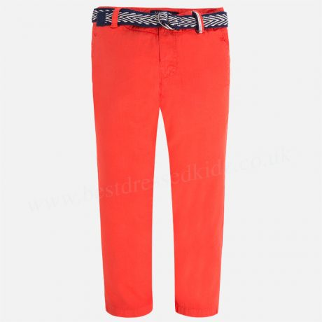 Mayoral Long Trousers w/ Belt Chilli 3511 Boys