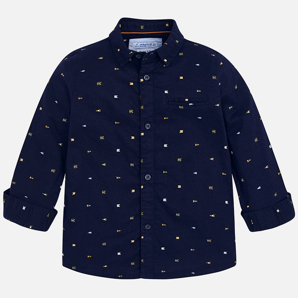 Mayoral Printed L/S Button Down in Orion 4140