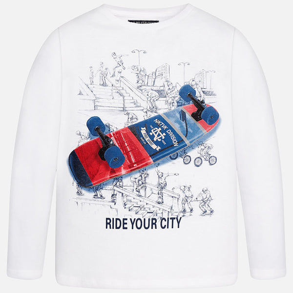 "Mayoral Long Sleeve ""Ride"" T-Shirt 7041"