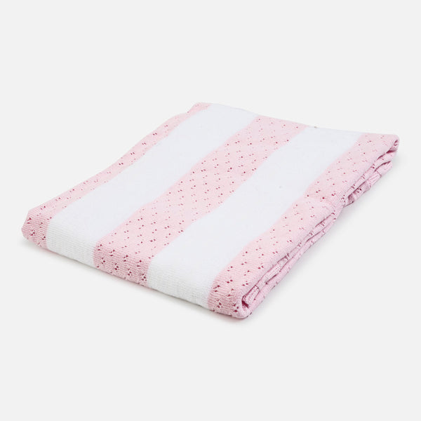 Copy of Mayoral Pink Striped Baby Blanket 9655 - Little Jill & Co.