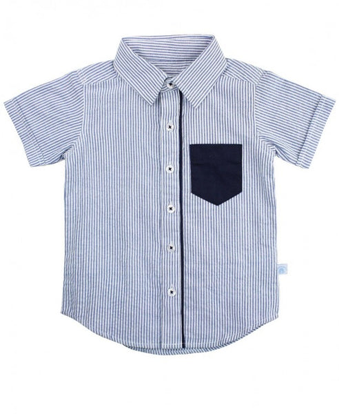 Rugged Butts Blue Seersucker Shirt