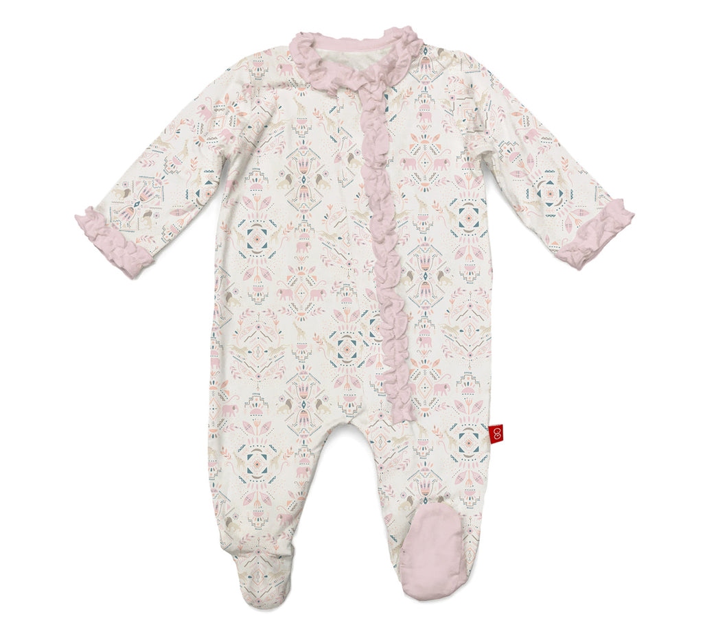 Magnificent Baby Boho Bebe Modal Magnetic Footie