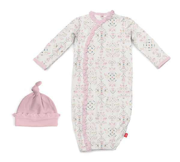 Magnificent Baby Boho Bebe Modal Magnetic Sack Gown Set