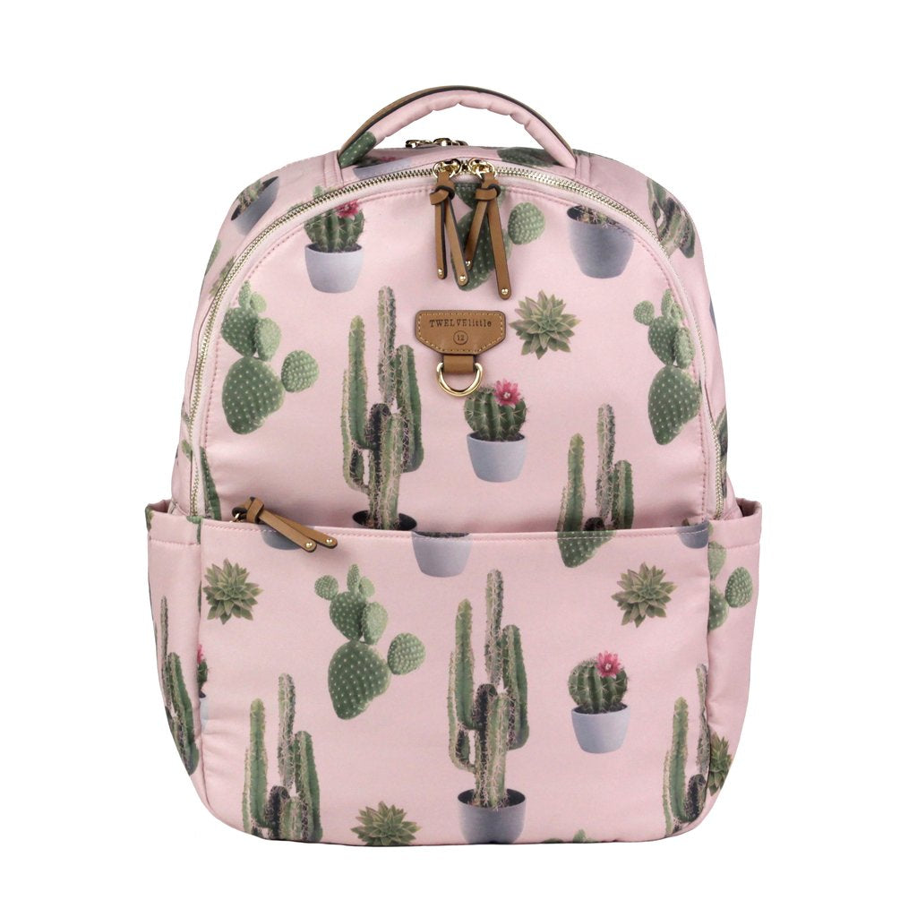 Twelve Little On-The-Go Backpack in Cactus Print