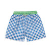 Prodoh Cornflower Blue Gingham Swim Trunk