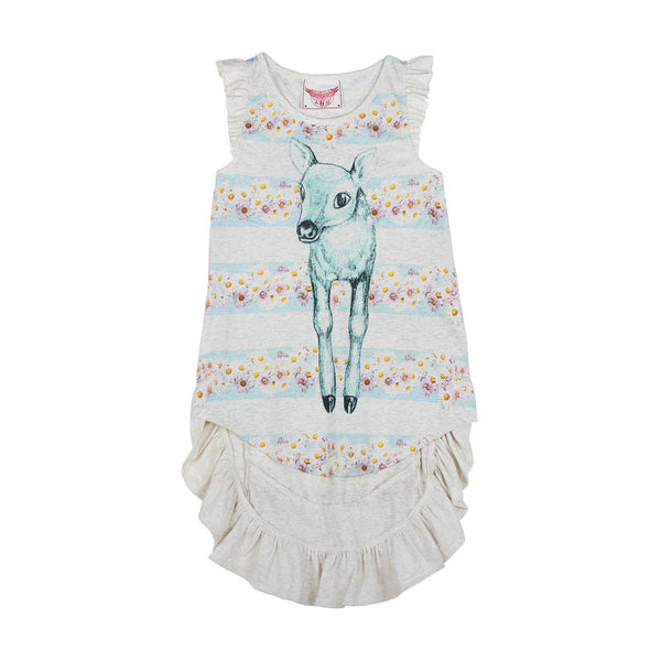 Paper Wings Daisy Deer Racerback Singlet Dress