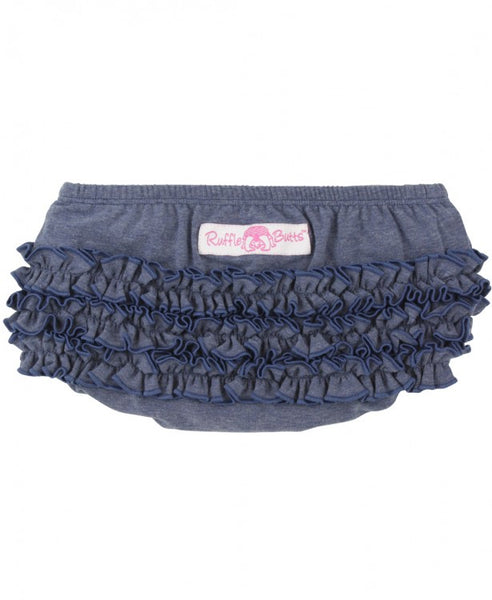Ruffle Butts Faux Denim Knit RuffleButt