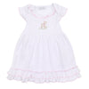 Magnolia Baby Vintage Fawn Embroidered Dress Set
