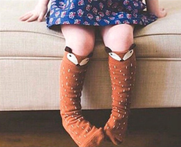 Little Jill & Co. Fox Boot Socks - Little Jill & Co.