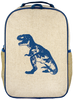 So Young Raw Linen Blue Dino Water Bottle Bag