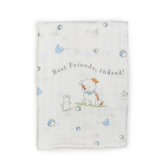 Bunnies By The Bay Have a Ball Swaddle Blanket - Little Jill & Co.