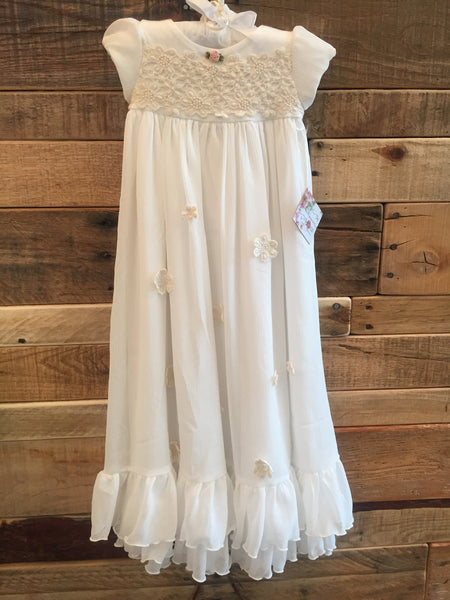 Romantique Be-Be Charlotte Gown - Bonnet Ivory - Little Jill & Co.