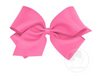 Wee Ones King Classic Hair Bow - Plain Wrap-Clip - Available In 24 Colors