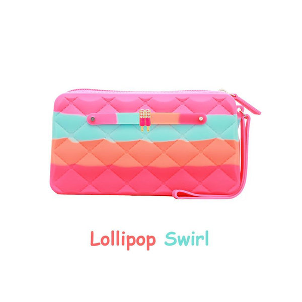 Yummy Gummy SCENTED Wristlet Gummy Bags in Lollipop Swirl (Orange Sherbet Scent)