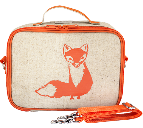 So Young Raw Linen Orange Fox Lunch Box