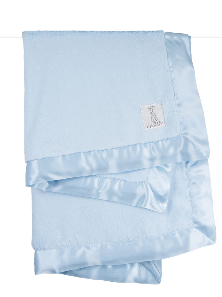 Little Giraffe Luxe Solid Blanket in Blue - Little Jill & Co.