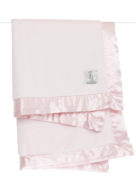 Little Giraffe Luxe Solid Blanket in Pink - Little Jill & Co.