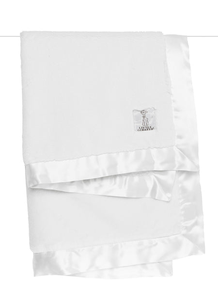 Little Giraffe Luxe Solid Blanket in White - Little Jill & Co.