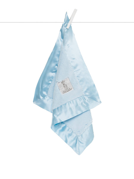 Little Giraffe Luxe Solid Blanky in Blue - Little Jill & Co.