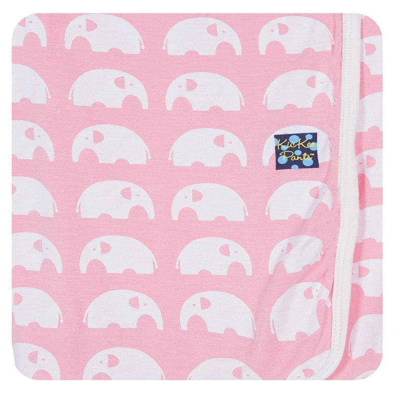 Kickee Pants Essentials Swaddling Blanket Lotus Elephant - Little Jill & Co.