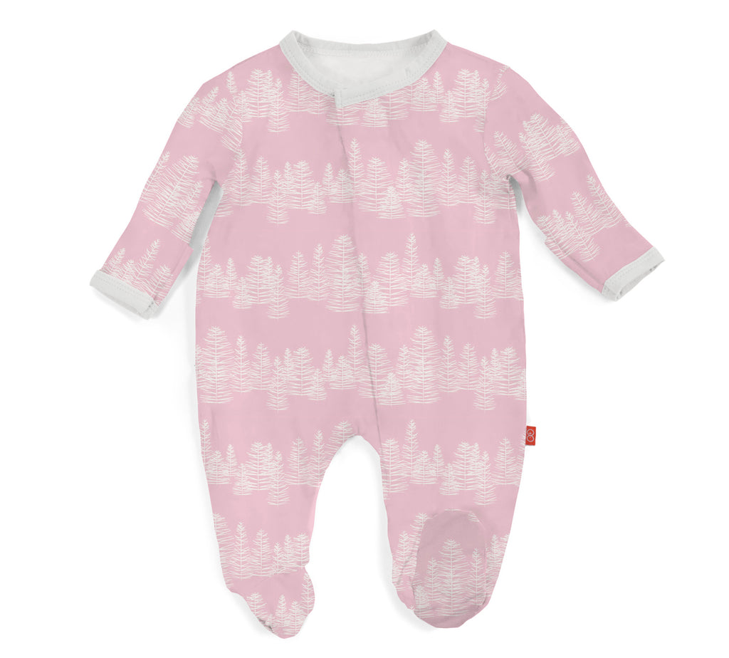Magnificent Baby Pink Aspen Modal Magnetic Footie