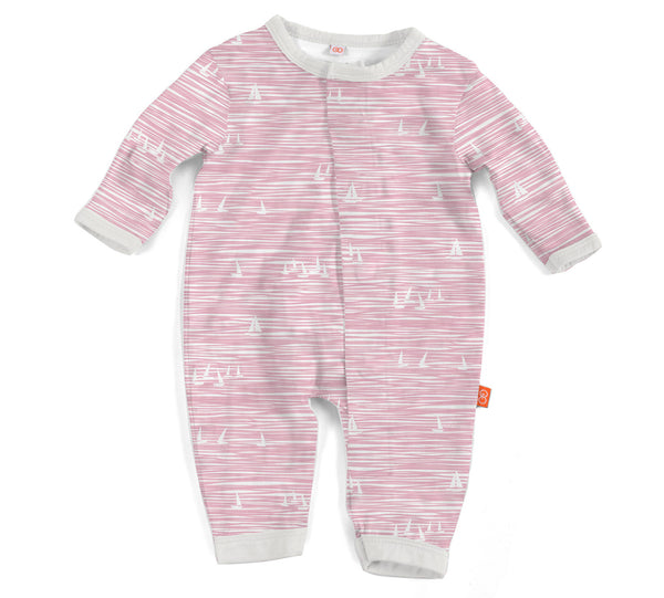 Magnificent Baby Pink Seeing Sailboats Modal Magnetic Coverall
