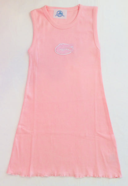 Two Feet Ahead Gator Tank Dress Light Pink 212