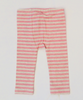 Paper Wings Stripe Leggings in Light Grey Marle/ Pink