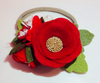 Lovely Felt Flower Crown in Christmas Red
