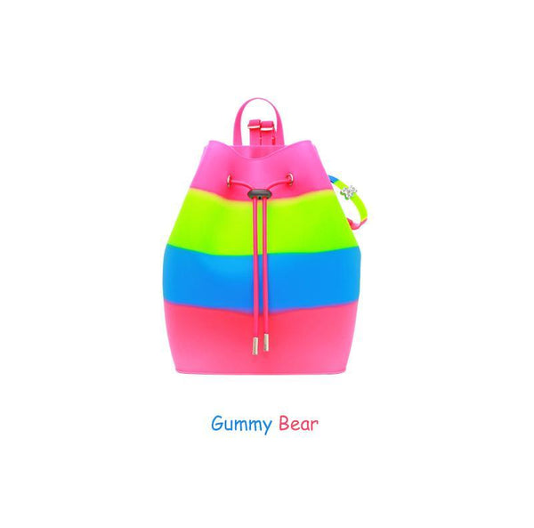 Yummy Gummy SCENTED Rope Bucket Bag in Gummy Bear (Green Apple Scent)