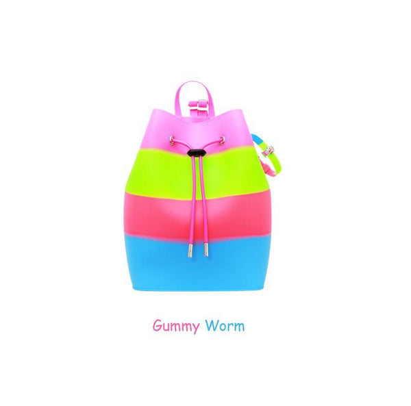 Yummy Gummy SCENTED Rope Bucket Bag in Gummy Worm (Blueberry Scent)