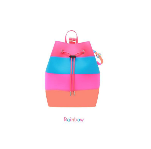 Yummy Gummy SCENTED Rope Bucket Bag in Rainbow (Orange Sherbet Scent)