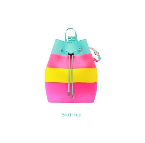 Yummy Gummy SCENTED Rope Bucket Bag in Skittles (Pineapple Scent)