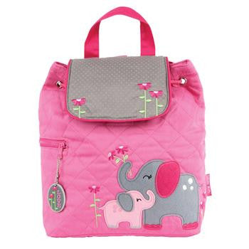 Stephen Joseph Quilted Backpack Elephant