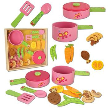 Stephen Joseph Wooden Play Cook Set - Little Jill & Co.