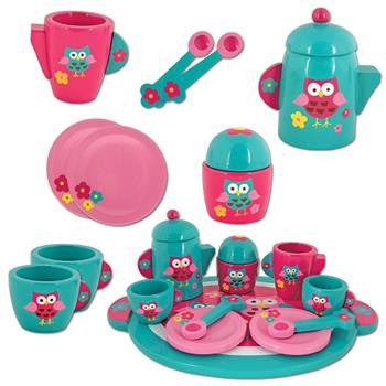 Stephen Joseph Wooden Play Tea Set - Little Jill & Co.