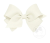 Wee Ones Small Classic Hair Bow - Plain Wrap-Clip - Available In 24 Colors