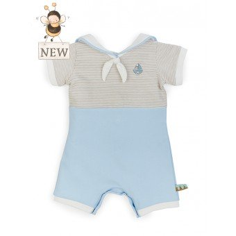 Bunnies By The Bay Sailor Bud Bunny Romper - Little Jill & Co.