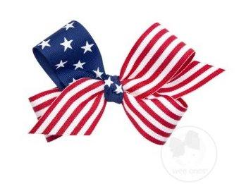 Wee Ones Medium Stars and Stripes Bow
