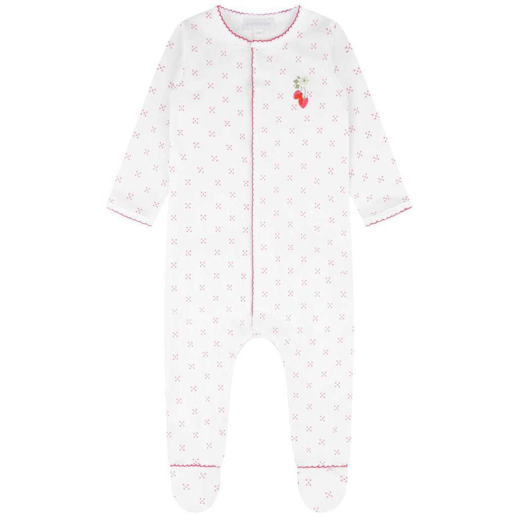 Magnolia Baby Strawberry Fields Emb. Ruffle Footie