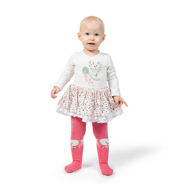 Paper Wings Tutu Baby Dress in Heart Tale