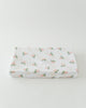 Little Unicorn Cotton Muslin Changing Pad Cover- Watercolor Rose